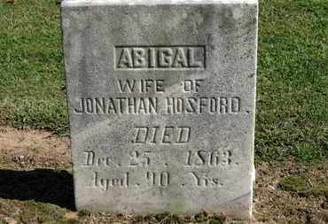 HOSFORD, ABIGAIL - Erie County, Ohio | ABIGAIL HOSFORD - Ohio Gravestone Photos