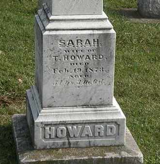 HOWARD, SARAH - Erie County, Ohio | SARAH HOWARD - Ohio Gravestone Photos