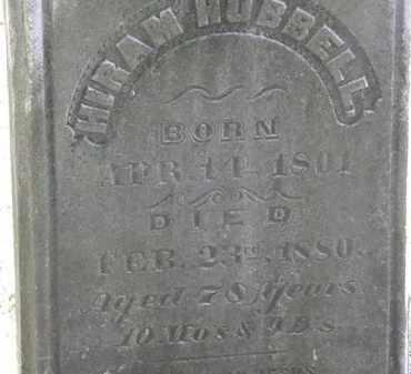 HUBBELL, HIRAM - Erie County, Ohio | HIRAM HUBBELL - Ohio Gravestone Photos