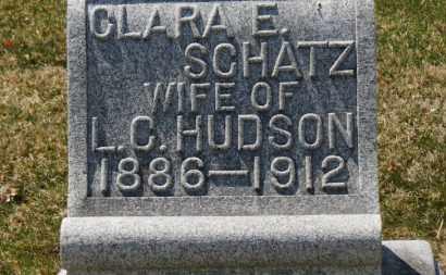 SCHATZ HUDSON, CLARA E. - Erie County, Ohio | CLARA E. SCHATZ HUDSON - Ohio Gravestone Photos