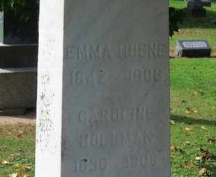 BOLLMAN, CAROLINE - Erie County, Ohio | CAROLINE BOLLMAN - Ohio Gravestone Photos
