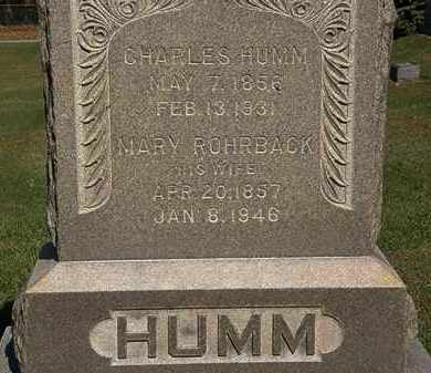 ROHRBACK HUMM, MARY - Erie County, Ohio | MARY ROHRBACK HUMM - Ohio Gravestone Photos