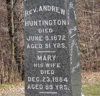 HUNTINGTON, REV. ANDREW - Erie County, Ohio | REV. ANDREW HUNTINGTON - Ohio Gravestone Photos