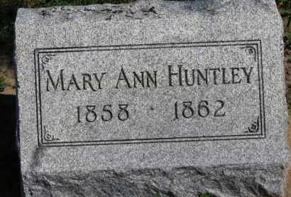 HUNTLEY, MARY ANN - Erie County, Ohio | MARY ANN HUNTLEY - Ohio Gravestone Photos