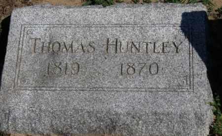 HUNTLEY, THOMAS - Erie County, Ohio | THOMAS HUNTLEY - Ohio Gravestone Photos