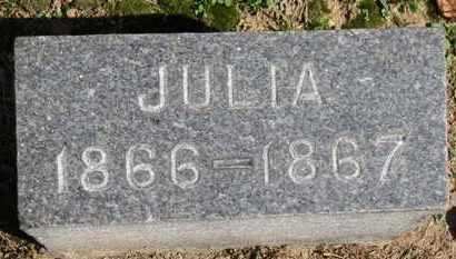 HURLBUTT, JULIA - Erie County, Ohio | JULIA HURLBUTT - Ohio Gravestone Photos