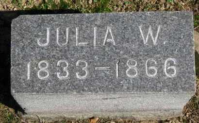 HURLBUTT, JULIA W. - Erie County, Ohio | JULIA W. HURLBUTT - Ohio Gravestone Photos