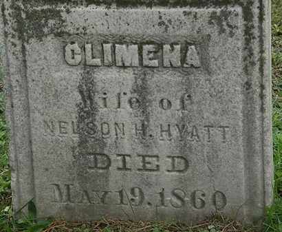 HYATT, CLIMENA - Erie County, Ohio | CLIMENA HYATT - Ohio Gravestone Photos
