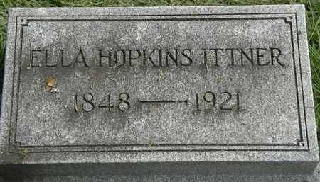HOPKINS ITTNER, ELLLA - Erie County, Ohio | ELLLA HOPKINS ITTNER - Ohio Gravestone Photos