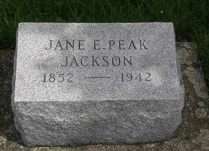 PEAK JACKSON, JANE E. - Erie County, Ohio | JANE E. PEAK JACKSON - Ohio Gravestone Photos