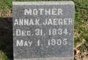 JAEGER, ANNA K. - Erie County, Ohio | ANNA K. JAEGER - Ohio Gravestone Photos