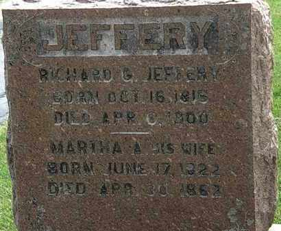 JEFFERY, MARTHA A. - Erie County, Ohio | MARTHA A. JEFFERY - Ohio Gravestone Photos