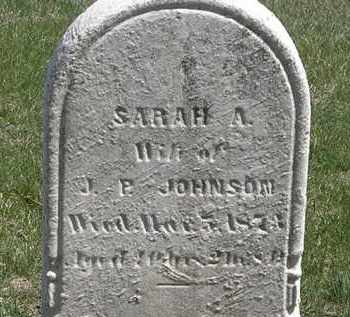 JOHNSON, SARAH A. - Erie County, Ohio | SARAH A. JOHNSON - Ohio Gravestone Photos