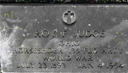 JUDGE, ROY F. - Erie County, Ohio | ROY F. JUDGE - Ohio Gravestone Photos