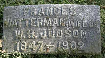 WATTERMAN JUDSON, FRANCES - Erie County, Ohio | FRANCES WATTERMAN JUDSON - Ohio Gravestone Photos