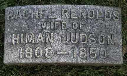 RENOLDS JUDSON, RACHEL - Erie County, Ohio | RACHEL RENOLDS JUDSON - Ohio Gravestone Photos