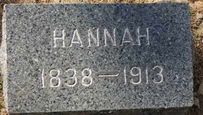 KANE, HANNAH - Erie County, Ohio | HANNAH KANE - Ohio Gravestone Photos