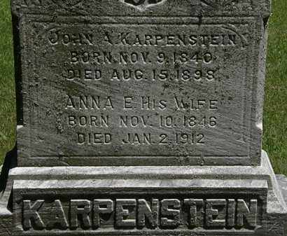 KARPENSTEIN, ANNA E. - Erie County, Ohio | ANNA E. KARPENSTEIN - Ohio Gravestone Photos