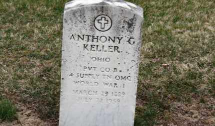 KELLER, ANTHONY G. - Erie County, Ohio | ANTHONY G. KELLER - Ohio Gravestone Photos