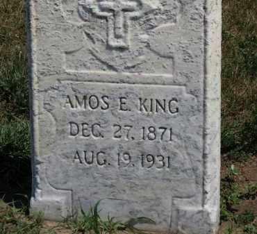 KING, AMOS E. - Erie County, Ohio   AMOS E. KING - Ohio Gravestone Photos