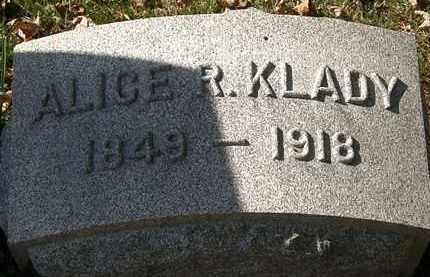 KLADY, ALICE R. - Erie County, Ohio | ALICE R. KLADY - Ohio Gravestone Photos