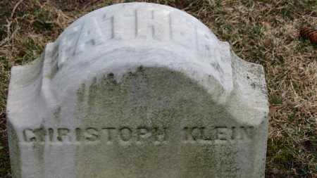 KLEIN, CHRISTOPH - Erie County, Ohio | CHRISTOPH KLEIN - Ohio Gravestone Photos
