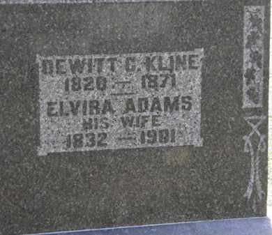ADAMS KLINE, ELVIRA - Erie County, Ohio | ELVIRA ADAMS KLINE - Ohio Gravestone Photos