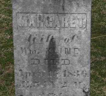 KLINE, MARGARET - Erie County, Ohio | MARGARET KLINE - Ohio Gravestone Photos