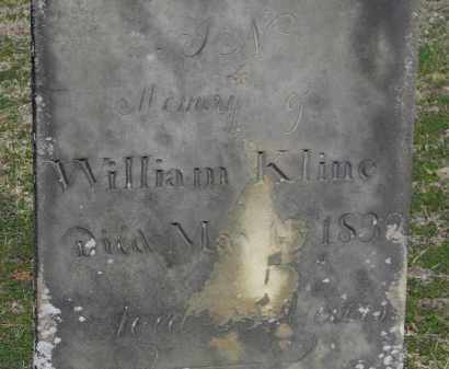 KLINE, WILLIAM - Erie County, Ohio | WILLIAM KLINE - Ohio Gravestone Photos