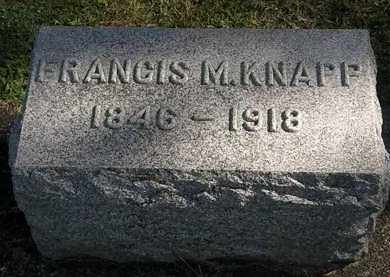 KNAPP, FRANCIS M. - Erie County, Ohio | FRANCIS M. KNAPP - Ohio Gravestone Photos