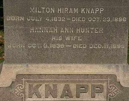 HUNTER KNAPP, HANNAH ANN - Erie County, Ohio | HANNAH ANN HUNTER KNAPP - Ohio Gravestone Photos