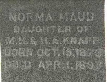 KNAPP, NORMA MAUD - Erie County, Ohio | NORMA MAUD KNAPP - Ohio Gravestone Photos