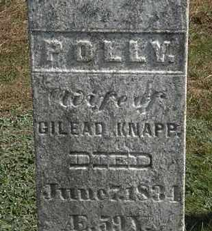KNAPP, POLLY - Erie County, Ohio | POLLY KNAPP - Ohio Gravestone Photos