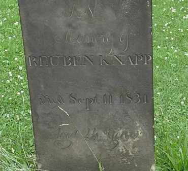 KNAPP, REUBEN - Erie County, Ohio | REUBEN KNAPP - Ohio Gravestone Photos