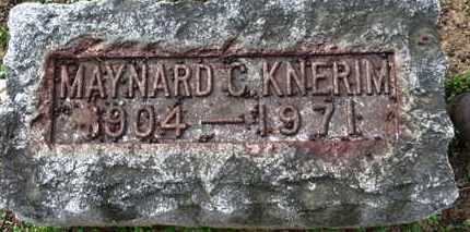 KNERIM, MAYNARD C. - Erie County, Ohio | MAYNARD C. KNERIM - Ohio Gravestone Photos