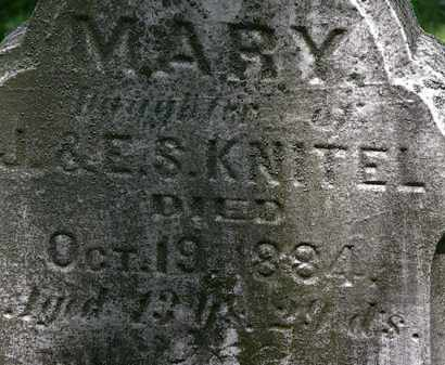 KNITEL, MARY - Erie County, Ohio | MARY KNITEL - Ohio Gravestone Photos