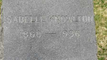 KNOWLTON, ISABELLE - Erie County, Ohio | ISABELLE KNOWLTON - Ohio Gravestone Photos