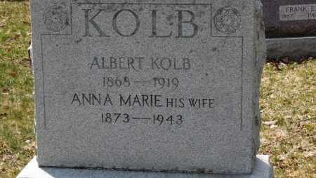 KOLB, ALBERT - Erie County, Ohio | ALBERT KOLB - Ohio Gravestone Photos