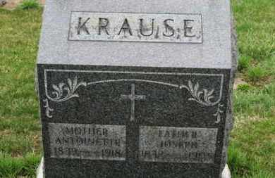KRAUSE, ANTOINETTE - Erie County, Ohio | ANTOINETTE KRAUSE - Ohio Gravestone Photos