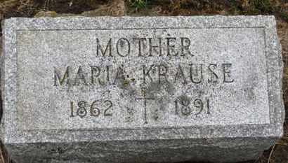 KRAUSE, MARIA - Erie County, Ohio | MARIA KRAUSE - Ohio Gravestone Photos