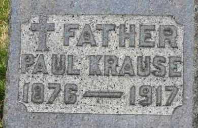 KRAUSE, PAUL - Erie County, Ohio | PAUL KRAUSE - Ohio Gravestone Photos
