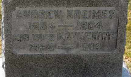 KREIMES, KATHERINE - Erie County, Ohio | KATHERINE KREIMES - Ohio Gravestone Photos