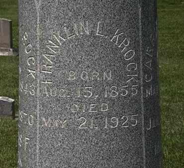 KROCK, FRANKLIN L. - Erie County, Ohio   FRANKLIN L. KROCK - Ohio Gravestone Photos