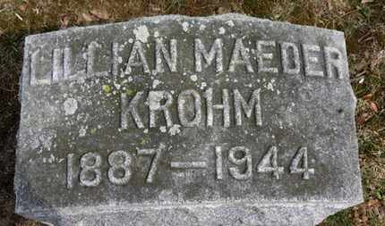 MAEDER KROHM, LILLIAN - Erie County, Ohio | LILLIAN MAEDER KROHM - Ohio Gravestone Photos