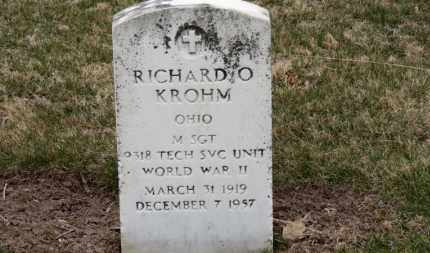 KROHM, RICHARD O. - Erie County, Ohio | RICHARD O. KROHM - Ohio Gravestone Photos