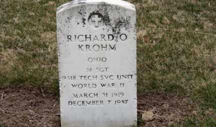 KROHM, RICHARD O. - Erie County, Ohio   RICHARD O. KROHM - Ohio Gravestone Photos
