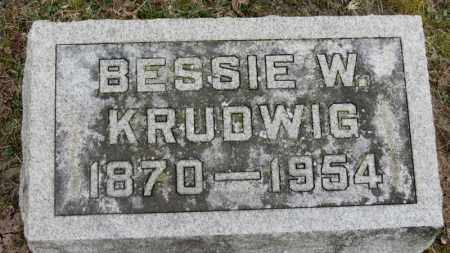 KRUDWIG, BESSIE W. - Erie County, Ohio | BESSIE W. KRUDWIG - Ohio Gravestone Photos