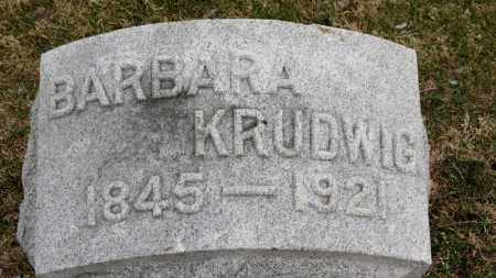 KRUDWIG, BARBARA - Erie County, Ohio | BARBARA KRUDWIG - Ohio Gravestone Photos