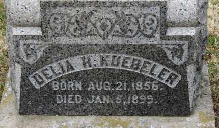 KUEBELER, DELIA H. - Erie County, Ohio | DELIA H. KUEBELER - Ohio Gravestone Photos