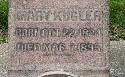 KUGLER, MARY - Erie County, Ohio | MARY KUGLER - Ohio Gravestone Photos